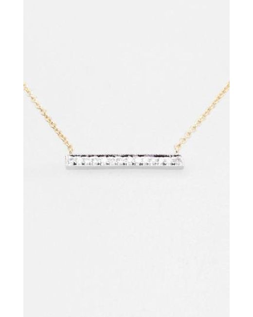 Dana Rebecca | Yellow 'sylvie Rose' Medium Diamond Bar Pendant Necklace | Lyst