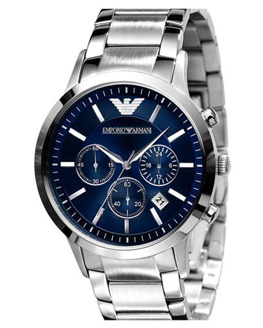 Emporio Armani | Metallic Stainless Steel Bracelet Watch for Men | Lyst