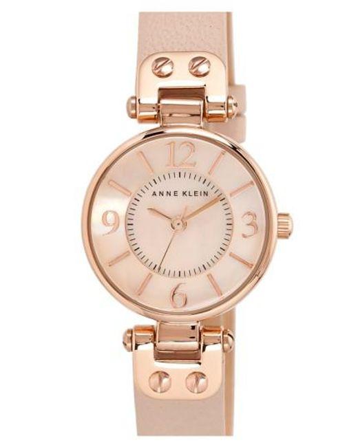 Anne Klein | Pink Hinge Case Watch | Lyst