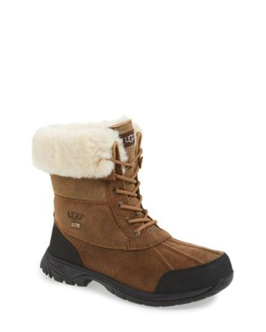Ugg - Brown Ugg Butte Bomber Snow Boot - Lyst
