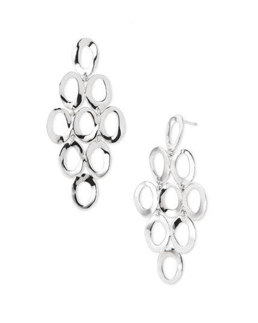 Ippolita | Metallic Open Oval Cascade Earrings - Sterling Silver | Lyst