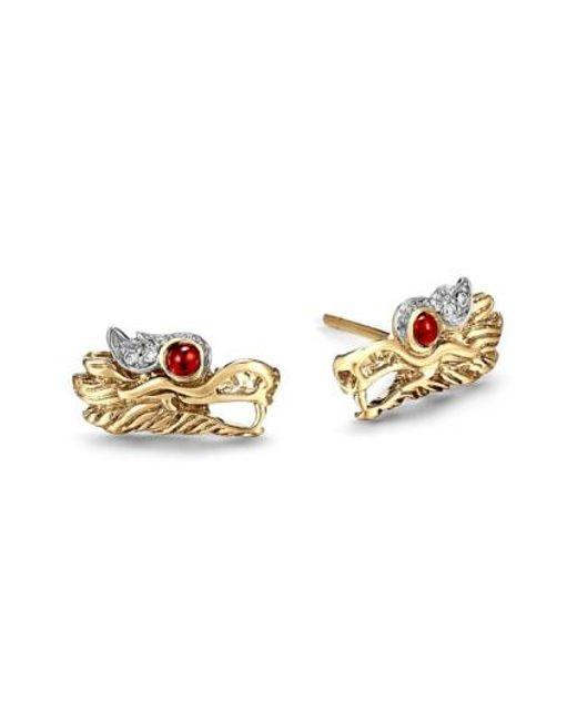 John Hardy - Metallic Legends Naga Dragon Stud Earrings - Lyst