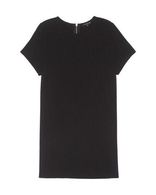 Felicity & Coco - Black Crepe Shift Dress - Lyst