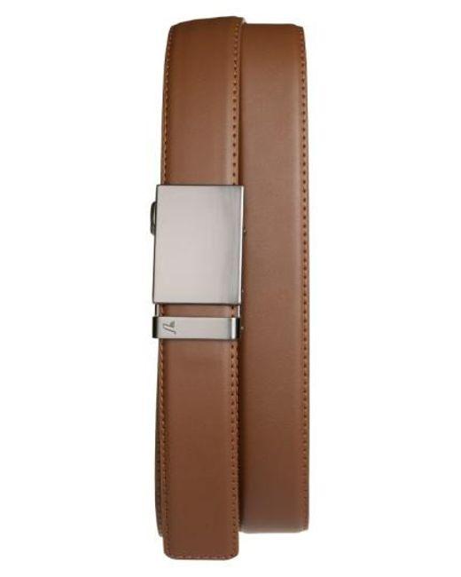 Mission Belt - Brown 'gun Metal' Leather Belt for Men - Lyst