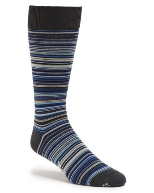 Paul Smith | Blue Multi Stripe Socks for Men | Lyst