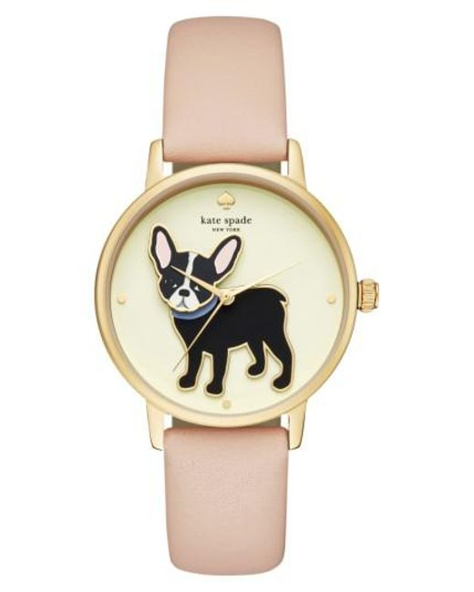 Kate Spade - Metallic Grand Metro Antoine Leather Strap Watch - Lyst