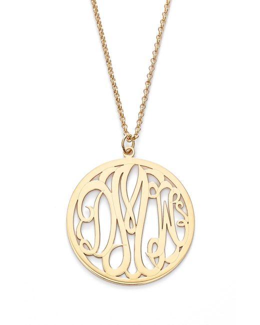 Argento Vivo Metallic Personalized 3-letter Monogram Necklace