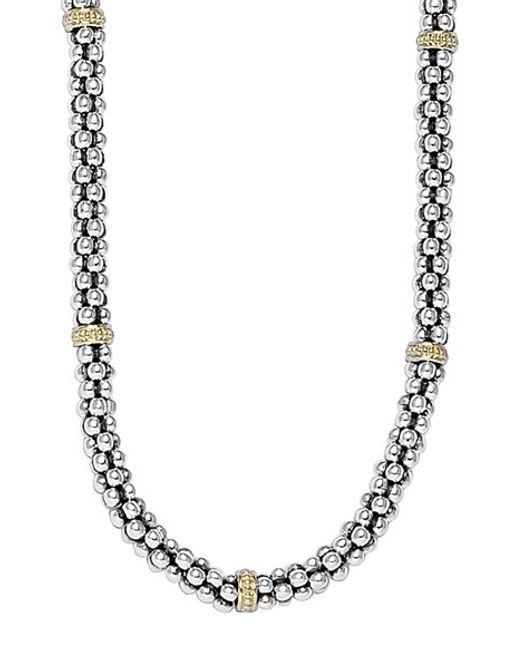 Lagos | Metallic Mini Caviar(tm) Rope Necklace | Lyst