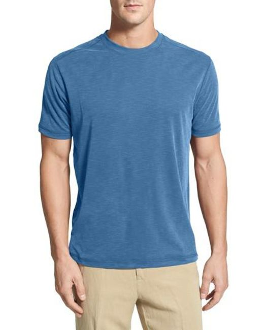 Tommy Bahama - Blue Crew Neck Short Sleeve Tee (big & Tall Available) for Men - Lyst