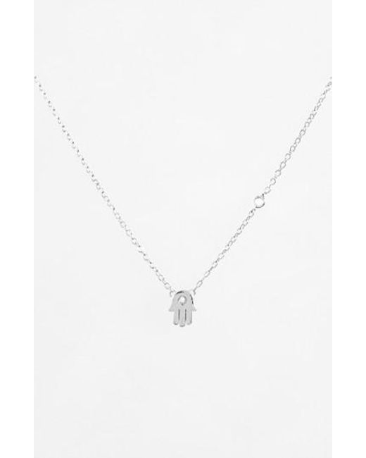 Shy By Sydney Evan | Metallic Hamsa Necklace | Lyst