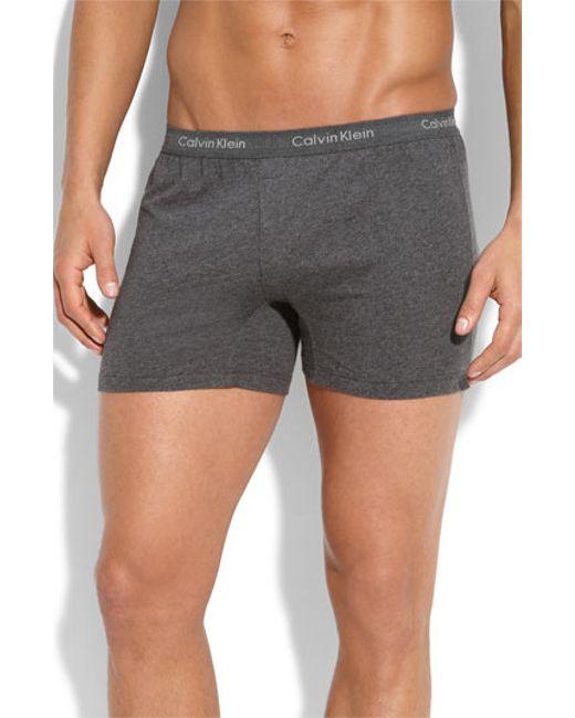 Calvin Klein | Gray 'u1029' Slim Fit Boxer Shorts for Men | Lyst