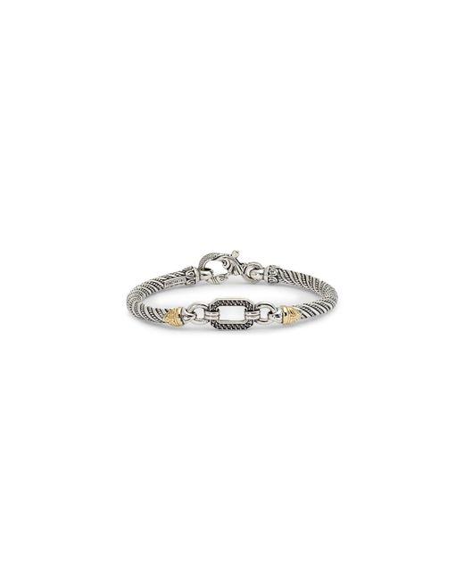 Konstantino Metallic Hermione Silver & Gold Bracelet With Black Diamonds