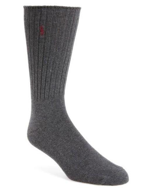 Polo Ralph Lauren | Gray Crew Socks for Men | Lyst