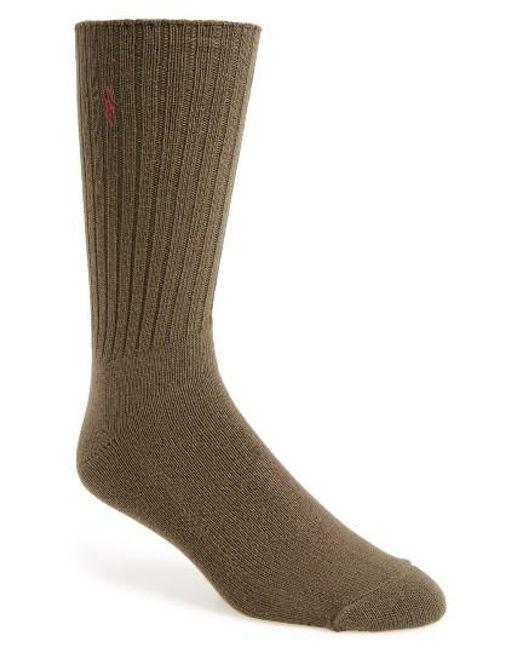Polo Ralph Lauren | Green Crew Socks for Men | Lyst