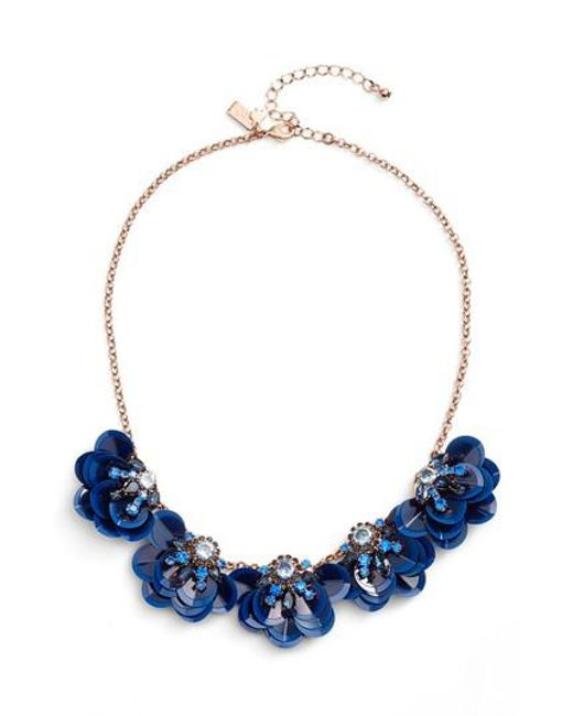 Kate Spade | Blue Snowy Nights Sequin Necklace | Lyst