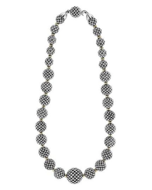 Lagos - Metallic 'caviar Forever' Lattice Ball Necklace - Lyst