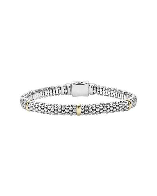 Lagos | Metallic Caviar(tm) Rope Station Bracelet | Lyst