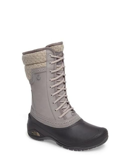 The North Face - Gray Shellista Waterproof Insulated Snow Boot - Lyst