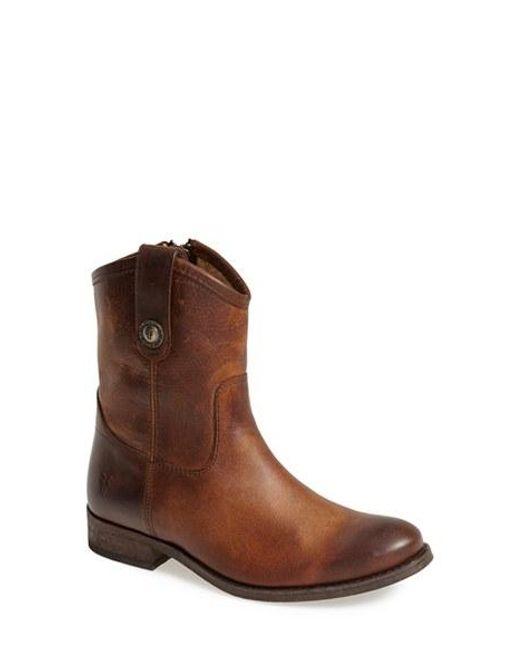 Frye   Brown 'melissa Button' Short Boot   Lyst