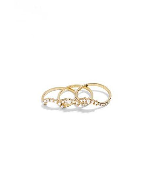 BaubleBar - Metallic Dynasty Set Of 3 Rings - Lyst