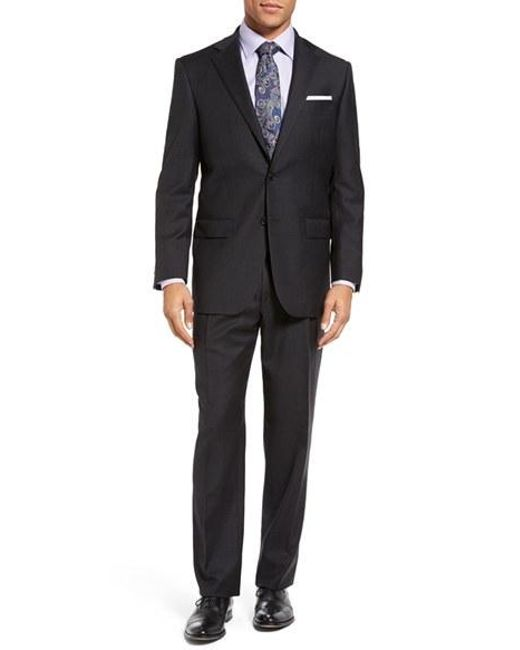 Hart Schaffner Marx | Gray Chicago Classic Fit Solid Wool Suit for Men | Lyst