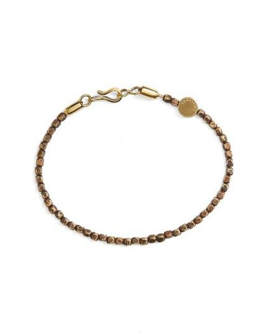 Caputo & Co. - Metallic Brass Bead Bracelet - Lyst