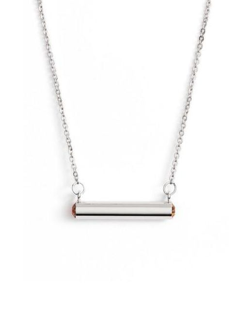 Stella Valle   Metallic Stella Vale November Crystal Bar Pendant Necklace   Lyst