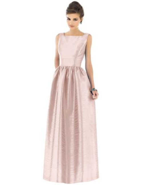 Alfred Sung | White Square-Neck Dupioni Full-Length Dress | Lyst