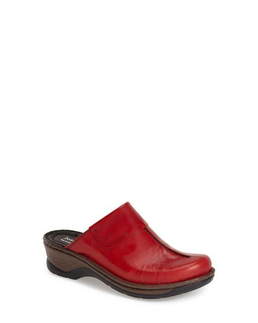 Josef Seibel Pink Carole Leather Mules