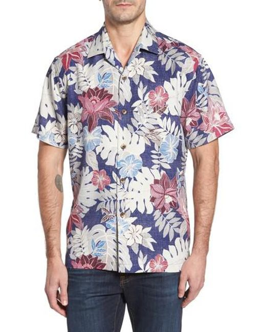 Tommy Bahama | Blue Desert Blooms Original Fit Print Silk Camp Shirt for Men | Lyst