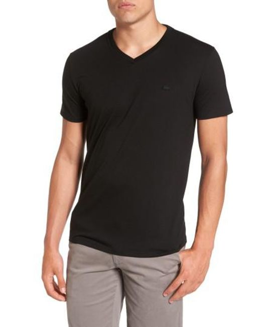 Lacoste | Black Pima Cotton T-shirt for Men | Lyst