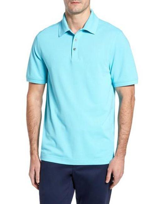 Cutter & Buck | Blue Advantage Golf Polo for Men | Lyst