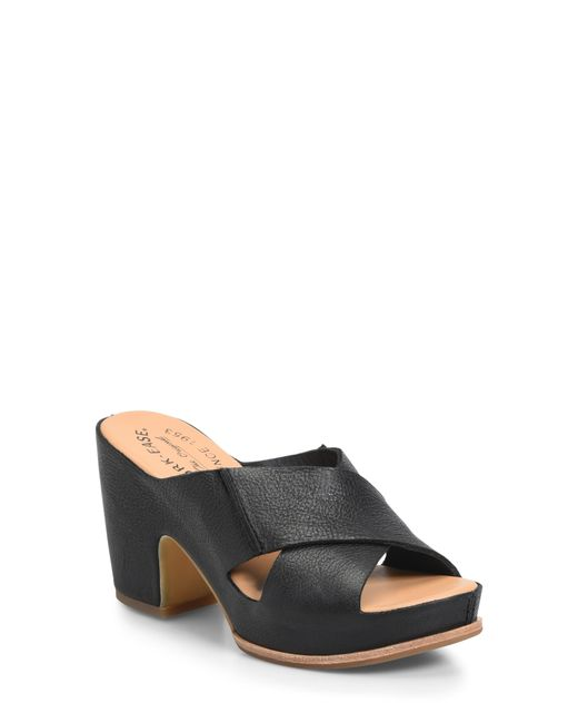 Kork-Ease Black Kork-ease Garden Platform Slide Sandal