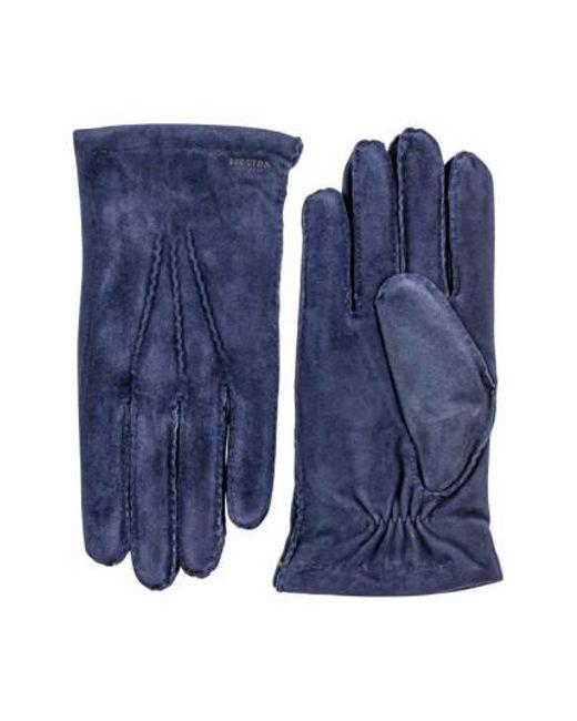Hestra | Blue 'arthur' Suede Gloves | Lyst