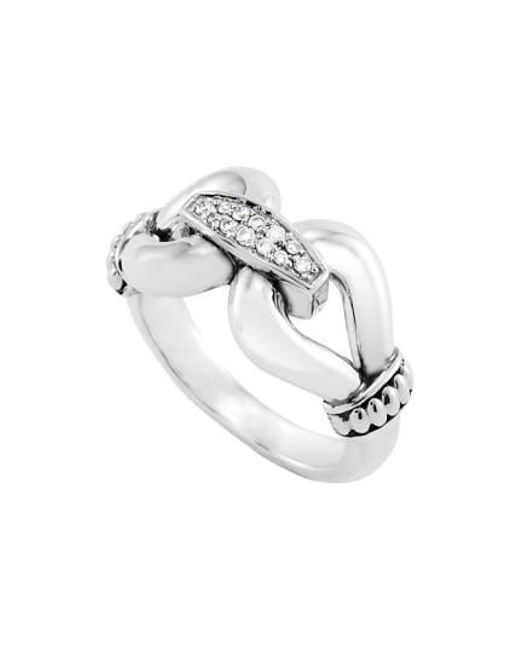 Lagos - Metallic 'derby' Large Diamond Ring - Lyst