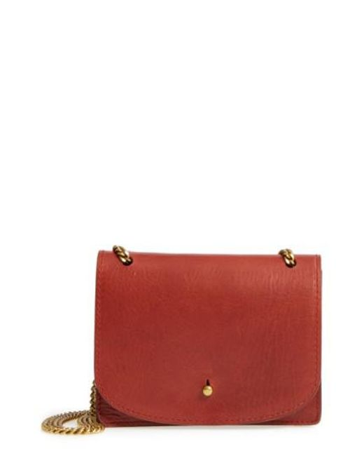 Madewell | Red Leather Crossbody Wallet | Lyst