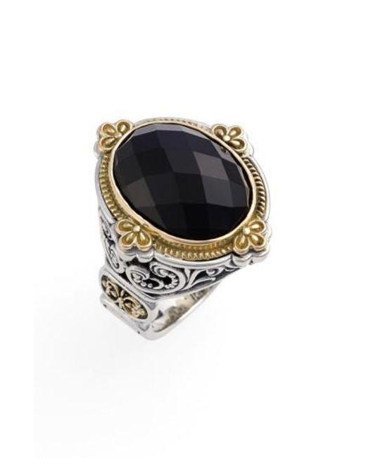 Konstantino   Metallic 'nykta' Faceted Stone Ring   Lyst