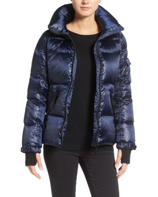 S13/nyc 'Kylie' Metallic Quilted Jacket With Removable
