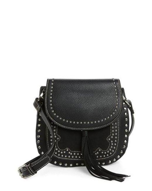 Shiraleah | Black Skylar Faux Leather Saddle Bag | Lyst