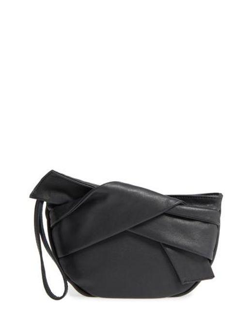 TOPSHOP | Black Jasmine Leather Clutch | Lyst