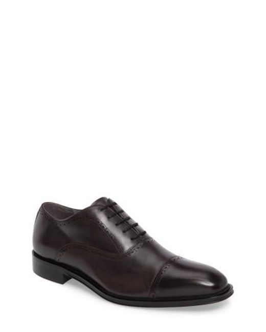 Kenneth Cole | Brown Design 10221 Cap Toe Oxford for Men | Lyst