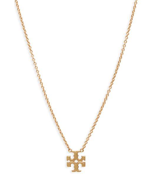 Tory Burch Metallic Logo Charm Necklace