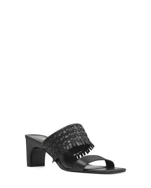 Nine West - Black Nirveli Woven Slide Sandal - Lyst