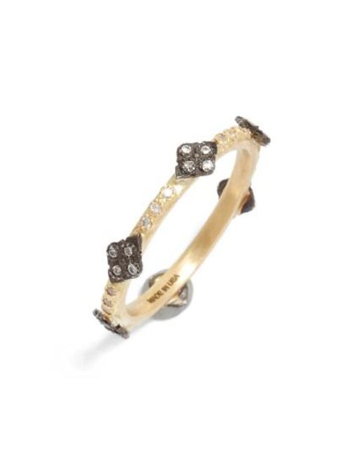Armenta | Metallic Old World Diamond Station Ring | Lyst