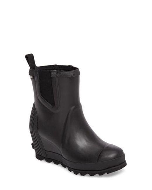 7d1f5805e4c Lyst - Sorel Joan Of Arctic(tm) Wedge Chelsea Rain Boot in Black