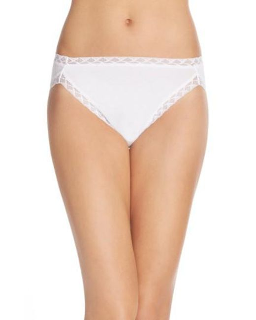 Natori | White 'bliss' French Cut Briefs | Lyst