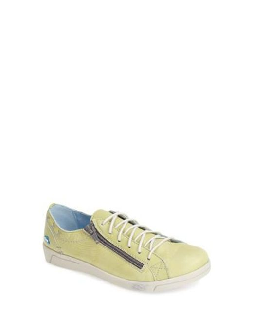 Cloud - Yellow 'aika' Leather Sneaker - Lyst