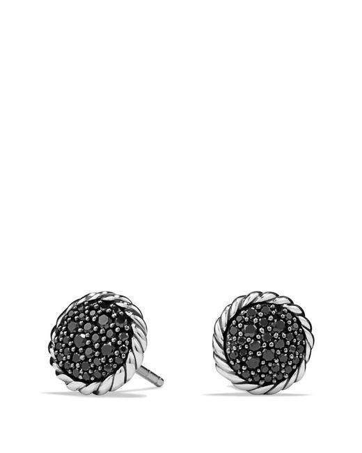 David Yurman - 'chatelaine' Pave Earring With Black Diamonds - Lyst