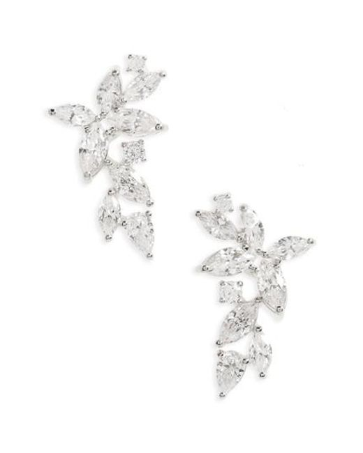 Nadri | Metallic Papillon Crystal Ear Crawlers | Lyst