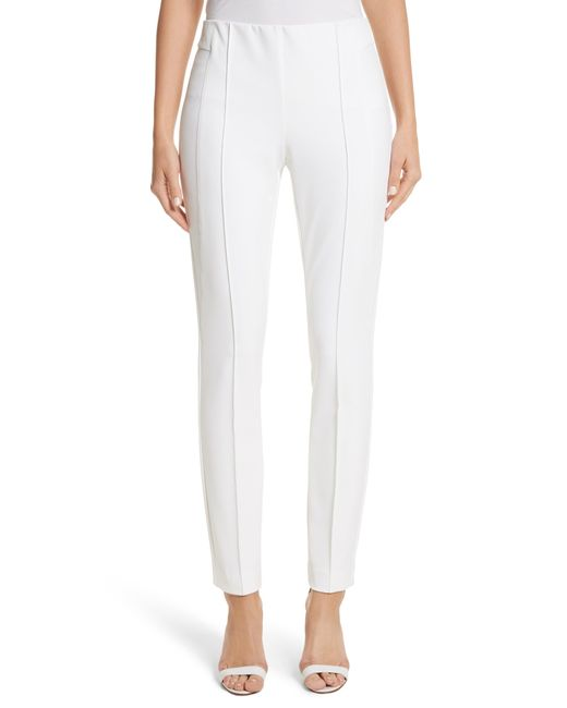 Lafayette 148 New York - White 'gramercy' Acclaimed Stretch Pants - Lyst